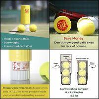 Tourna Restore Tennis Ball Saver Container Re Pressurize /& Extend Life Of Ball