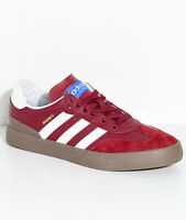 Men's Adidas Busenitz Vulc RX Red Leather Skate Boarding Trainers UK 4 - 13