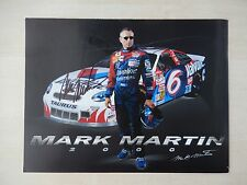 "Mark Martin Autographed 8 1/2"" X 11"" Photo Slick"