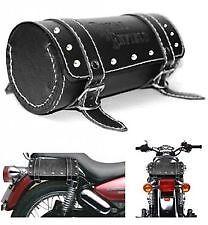 Side Saddle Roll Bag Back Carrier/Tool Bag for Royal Enfield - Black .