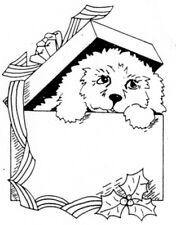 Unmounted Rubber Stamps, Christmas Stamps, Seasonal, Puppy Package, Puppies, Dog