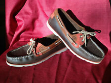 SPERRY TOPSIDER Mens 10.5 Brown/Salmon Leather Boat Shoes CH-08 E-13 10770966