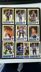 Edmonton Oilers 1986-87 Topps Team Set NMMT (Gretzky,Messier,Kurri,Coffey)
