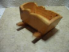 VINTAGE HAND MADE WOOD BABY DOLL ROCKER 4 1/4 IN LENGTH
