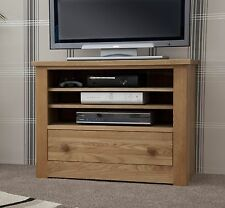 Vermont solid oak furniture television cabinet stand unit