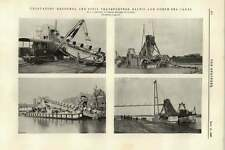 1895 Excavators Spoil Transporters Baltic North Sea Canal Smulders