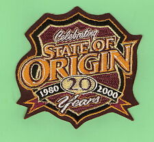 #D509. QUEENSLAND 20 YEARS STATE OF ORIGIN  RUGBY LEAGUE  PATCH