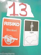 RISIKO VINTAGE carte territori EGITTO EUROPA OCCIDENTALE cards originali vendo