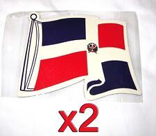2 pack Dominican Republic Flag Magnets Fridge/Car/Locker Imán Bandera UV protect