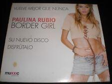 paulina rubio border girl cd spain 2002 ¡¡ mint ¡¡ c-encarte promo ¡¡ sealed ¡¡
