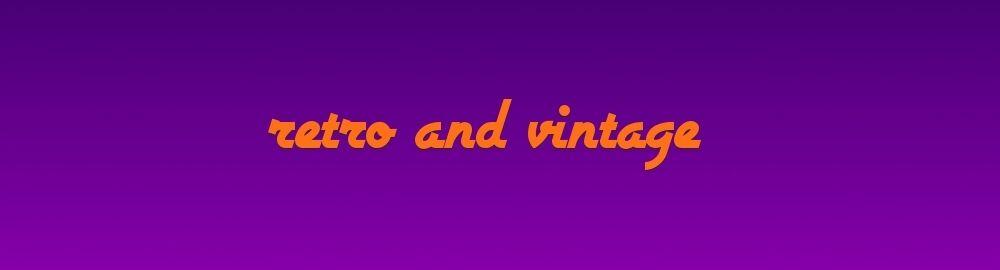 retro and vintage shop