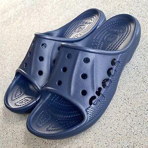 Crocs Baya Slide New Unisex Mens 8 Womens 10 Relaxed Fit Navy Blue 12000-410