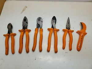 Lot 6 Klein Tools 1000v Double Insulated Electrician tools Pliers Free Shipping
