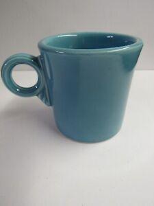Vintage Fiesta Turquoise Ring Handle Mug