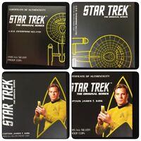 2015 Star Trek Captain Kirk Tuvalu & Enterprise 1 oz. Silver Proof Coin Lot of 2