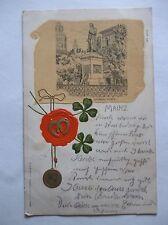 Ansichtskarte Mainz 1902 Gutenberg Denkmal