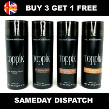 TOPPIK HAIR FIBERS BUILDING THICKENING FIBRES 27.5g ALL COLORS GET ONE FREE
