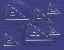 Laser Cut Quilt Templates- 6 Piece Triangle - Clear Acrylic 1/8""