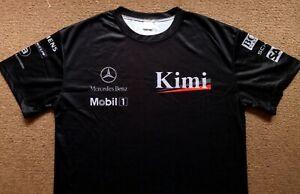 West McLaren Mercedes 2004 F1 Team Pit Crew Kimi Driver Issue Style Shirt Mens