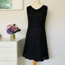 MARKS AND SPENCER Dress Size UK 10 BLACK | St Michael Vintage Lace Party Work