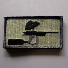 "Mech paintball patch - 3.5"" x 1.5"" sniper 2 autococker pump hook & loop backing"