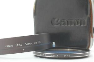 GENUINE [ MINT in Case ] Canon 50mm f/0.95 Hood for Dream Lens From JAPAN