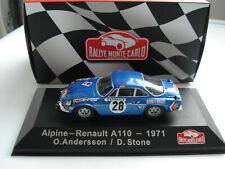 ALPINE RENAULT A110 - RALLYE MONTE CARLO - 1/43 - ATLAS - MINT/BOXED - 1971