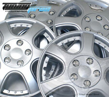 """4pc Qty 4 Pop On Wheel Cover Rim Skin Cover, 14"""" Inch #B011 Hubcap Silver"""