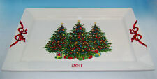 MARTHA STEWART Collection HOLIDAY GARDEN Christmas Tree Collectible PLATTER