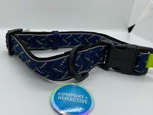 Comfort reflective collar  Large  Blue