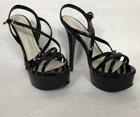 Chinese Laundry Tippy Top Platform Heels Black Patent Dancer Pump Women's 8