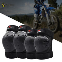 Unisex Safety Motorcycle Knee Pads& Elbow Protective Guards Skating Longboard