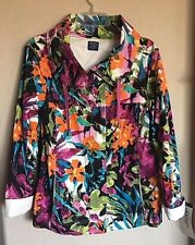 Jacket NEW by Jockey Person to Person Printed Cotton Stretch Twill Sz: M