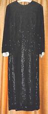 RARE VINTAGE 1930s? JOHN CAVANAGH EVENING DRESS WITH BLACK SEQUINS HAUTECOUTURE