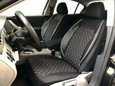 Sitzbezüge schwarz vorne PRA BMW 3ER E46