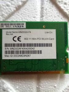 Liteon WN2302 A F4 WLAN Mini PCI 802.11G Adapter, Card