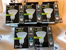 INTEGRAL LED DIMMABLE GU10 BULBS -PACK OF 5 - 470 LUMENS 6500K COOL DAYLIGHT