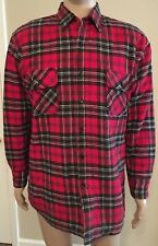 Ozark Trail Lumberjack Flannel Insulated Shirt Jacket Quilted Red Plaid L