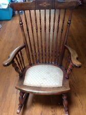 Fruitwood rocking chair-vintage w/ ulpolstered seat