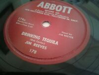 JIM REEVES 78 Drinking Tequila / Red Eyed & Rowdy 1957 Abbott 178 EX to NM