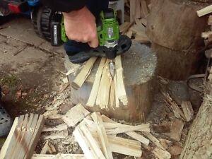 Log Splitter Screw Cone Kindling Firewood Splitter for Hand Drill Stick Copper