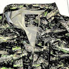 Reel Legends Mens Fishing Shirt Alligator Print Vented Long Sleeve Button Medium