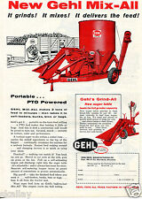 1959 Print Ad of GEHL Mix-All Grinder Mixer & Grind-All