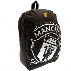 Manchester United Backpack Black Official Merchandise Kids School Bag Rucksack