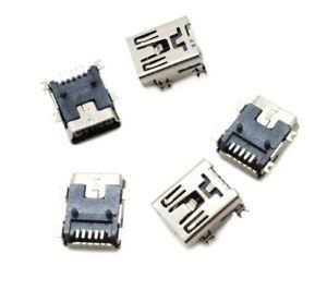 10 Pcs Mini USB Type B Female Socket 5-Pin 180 Degree Smd  Connector USA SELLER