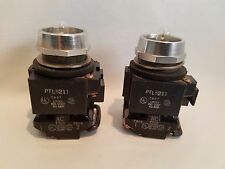 PAIR OF MICRO SWITCH PTL5211 LIGHTED PUSH BUTTONS 85030 120V