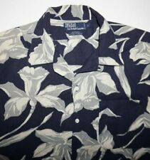 Vintage Polo Ralph Lauren Ashley Men's Floral Hawaiian Camp Shirt Size M