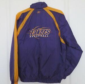 Reebok NBA Windbreaker Los Angeles Lakers Basketball Jacket Youth Size L 14/16