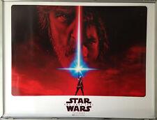 Cinema Poster: STAR WARS THE LAST JEDI 2017 (2nd Advance Quad) Mark Hamill