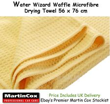 Water Wizard 56 x 76 cm Large Waffle Microfibre Drying Towel / Cloth Car Wash